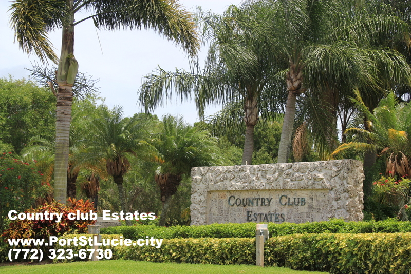 The Country Club Estates Port St Lucie Real Estate